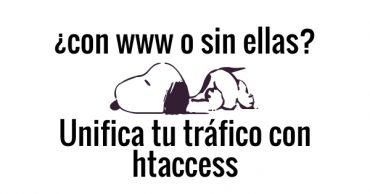 Unificar trafico con htaccess