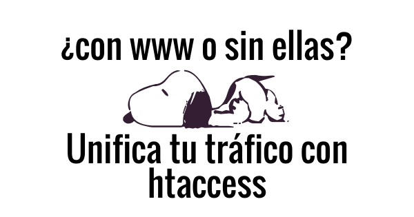 Unificar trafico con htaccess